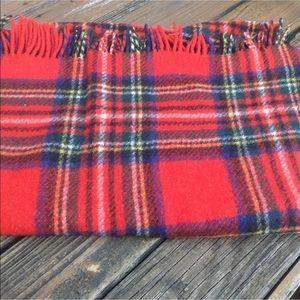 Vintage Connemara Plaid Wool Rug Foxford Ireland